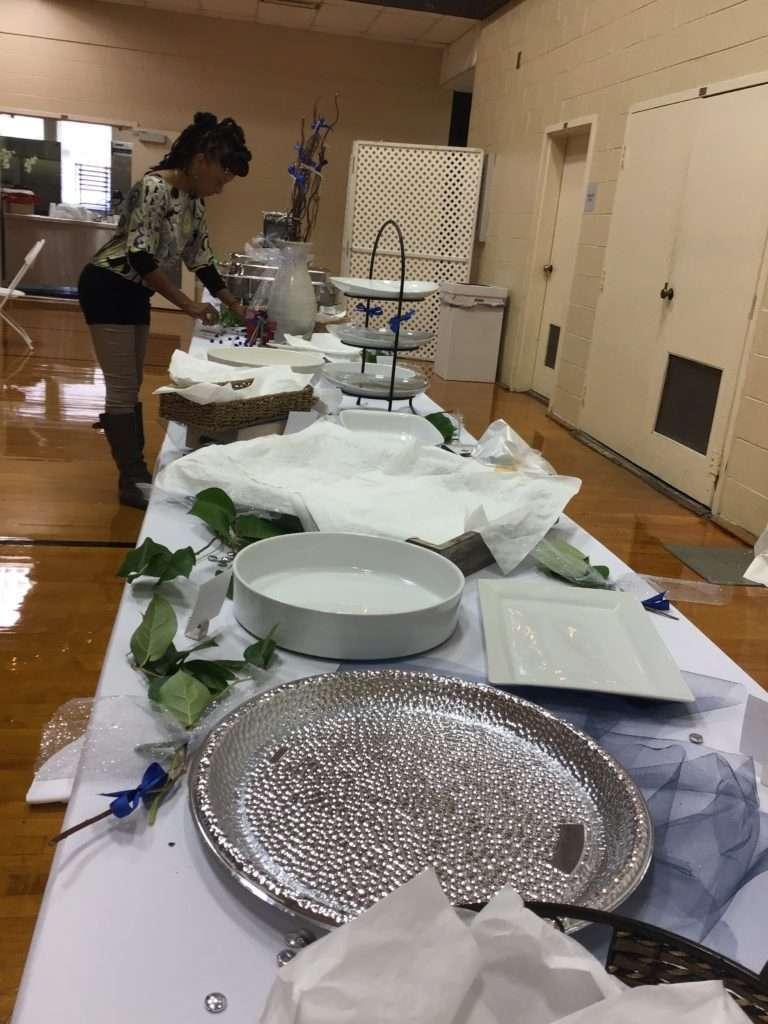 preparing a catered event