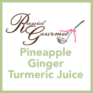 Pineapple Ginger Turmeric Juice
